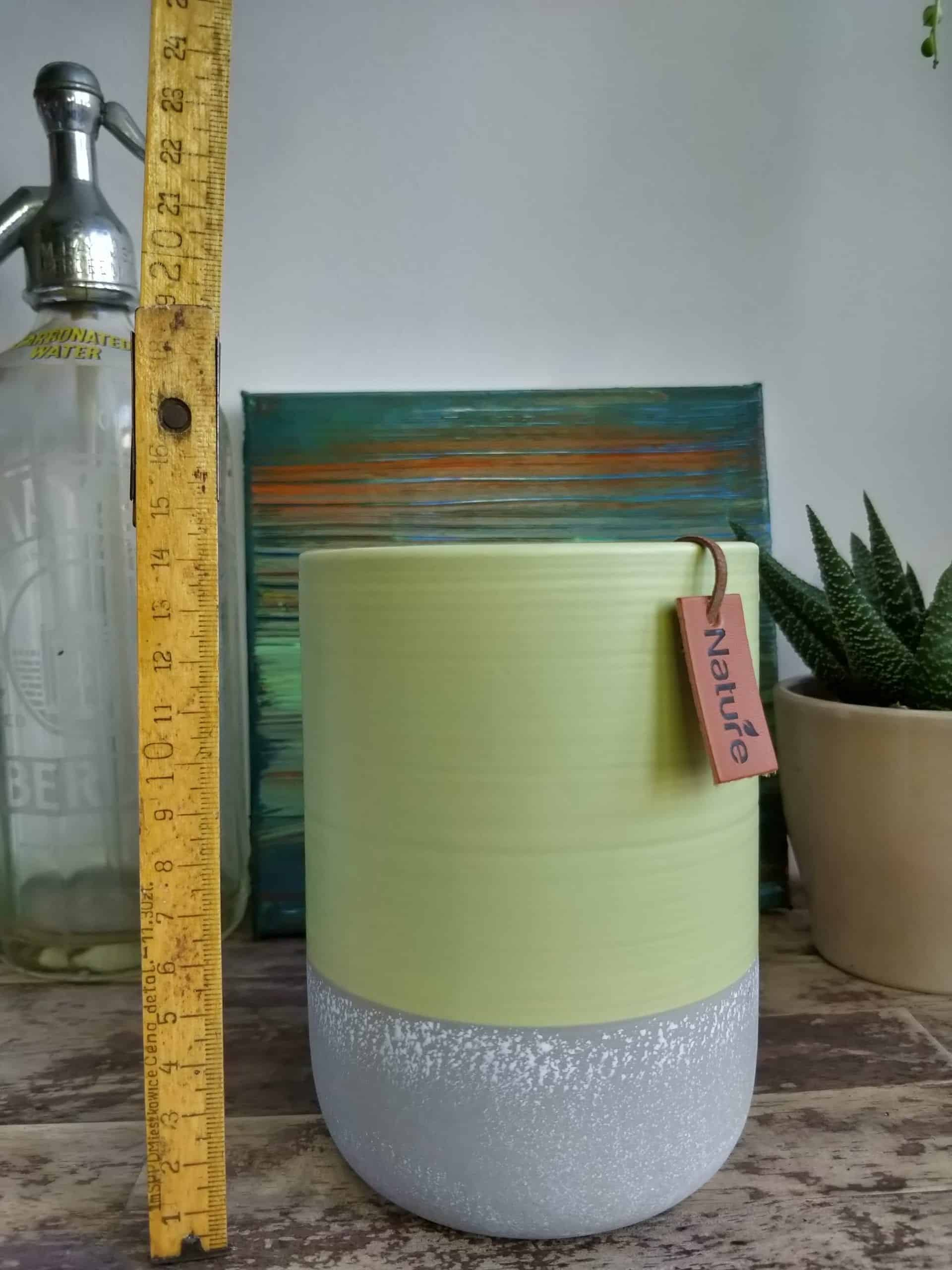Tall green planter for pots up to 10cm