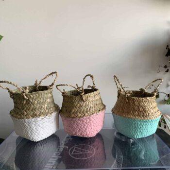 Wicker basket planter for 7-9cm pots | Choice of colours Plant Accessories 7cm planter