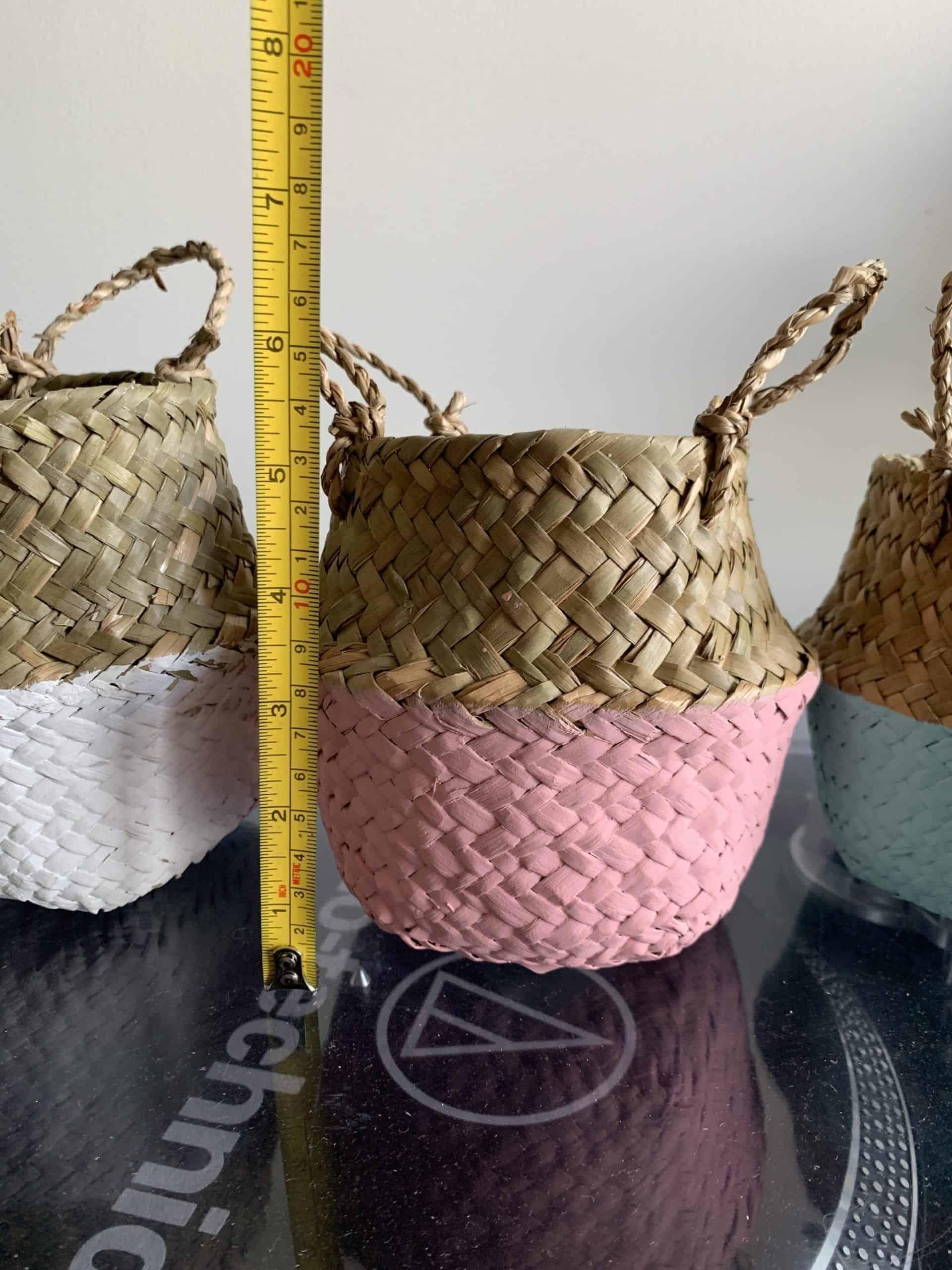 Wicker basket planter for 7-9cm pots | Choice of colours