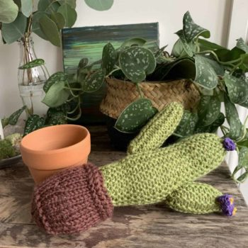 Knitted Cactus – 'Lavender Flower' Gift Ideas knitted plant 2
