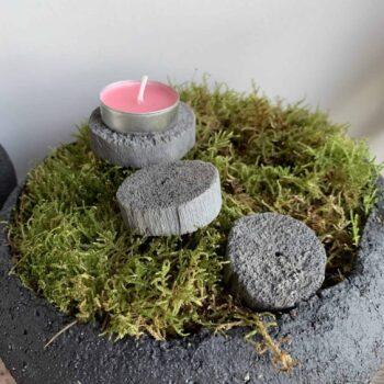 Grey Wooden Circles – 25g – 2-4 Pieces Decorations wood 2