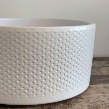 White textured bowl 18cm Bowls moss bowl
