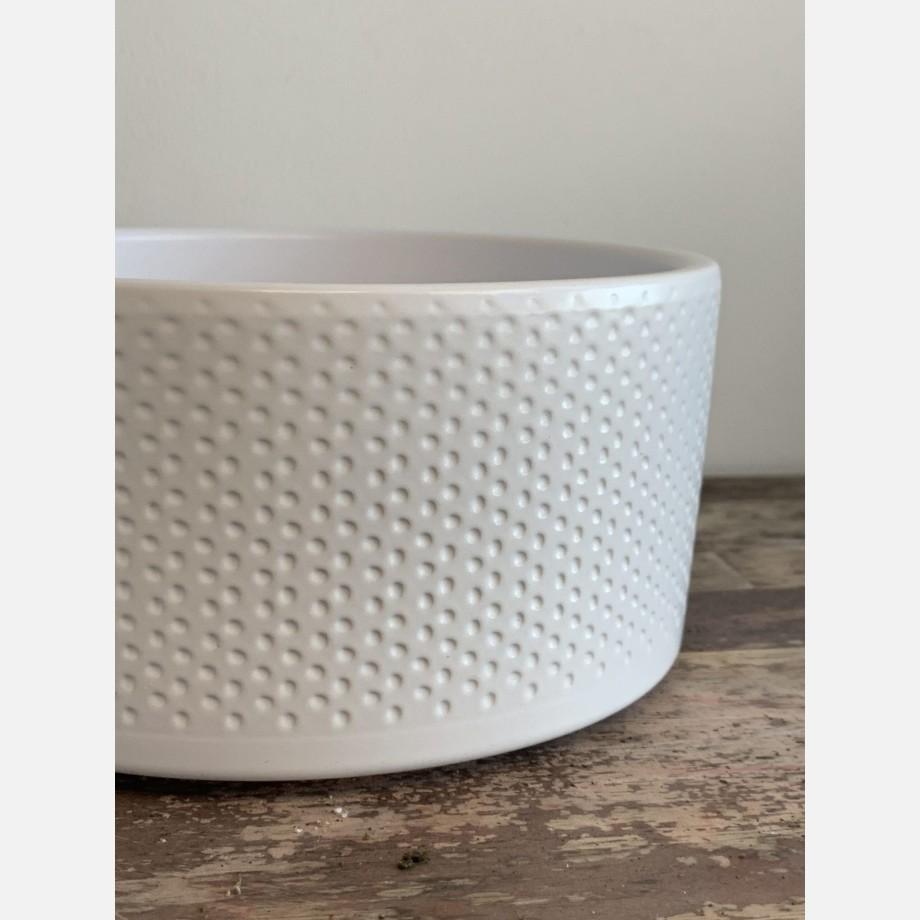 White textured bowl 18cm