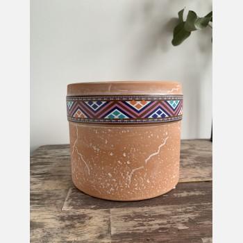 Terra Cylinder Planter for up to 9cm Pots – Zig Zag Planters 9cm planter