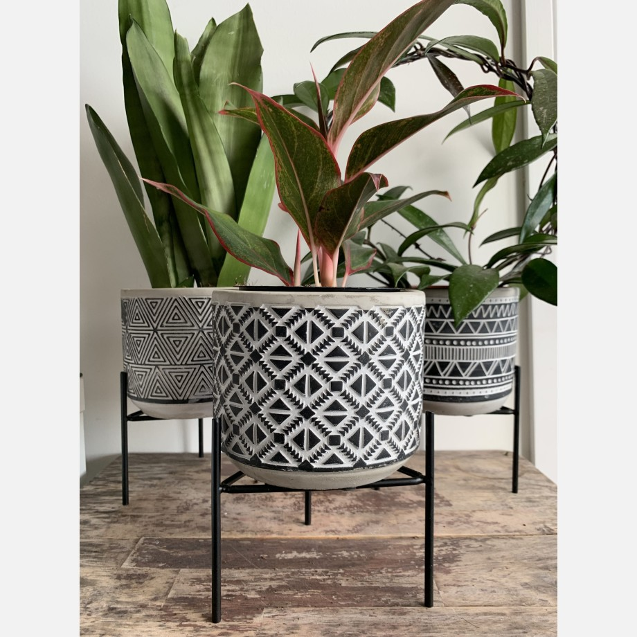 Inca Planters on Stands for up to 12cm pots – 3 Designs Available Planters 4