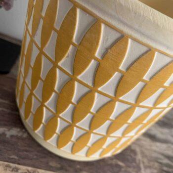 Diamond Pattern Planter for 12cm pots | Mustard Plant Accessories