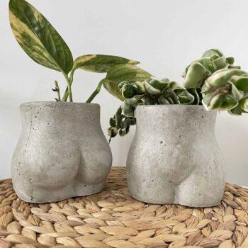 Concrete Booty Planter for up to 7.5cm plant pots Planters