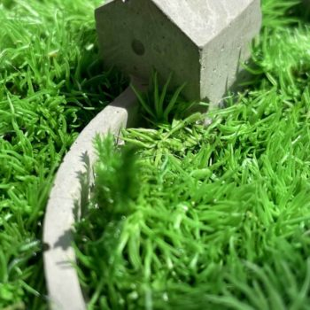 Concrete House in the Moss Artwork gift