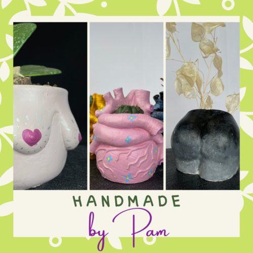 Handmade by Pam menu block