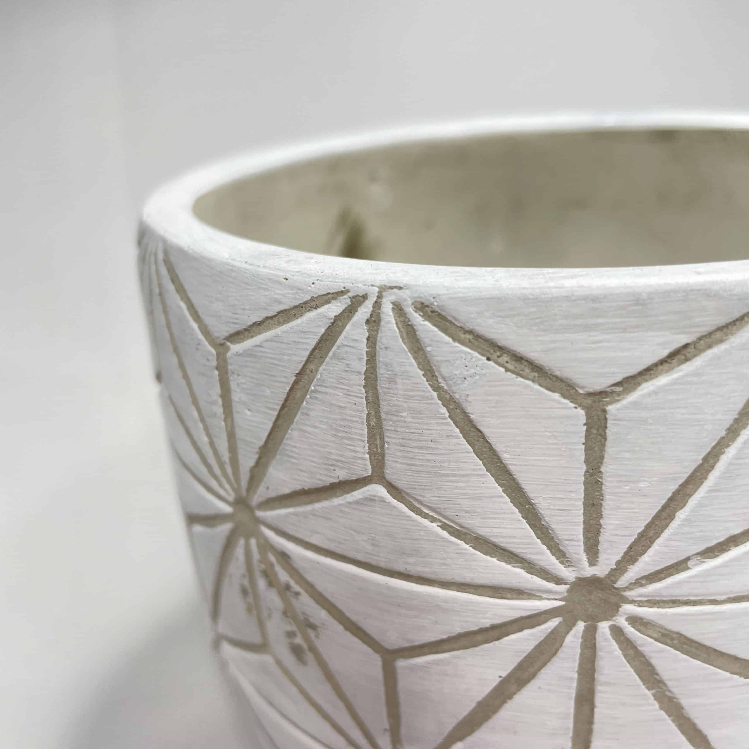 Geometric planter for up to 12cm pots