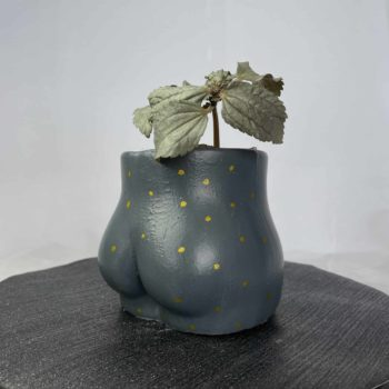Concrete Booty Planter – For plant pots up to 7.5cm Handmade by Pam 5cm planter
